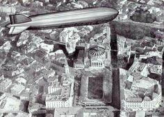 Bucuresti - Zeppelin LZ 127 - anii 30
