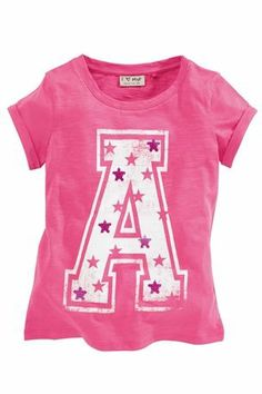 Buy Pink Sequin 'A' T-Shirt (3-16yrs) from the Next UK online shop
