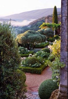 Manicured French Provincial Garden, La Carmejane in Luberon, Provence