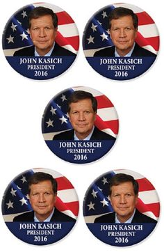 John Kasich Campaign Buttons Presidential History, 2016 Presidential Election, All Presidents, John Kasich, Political Campaign, Historical Photos, Politics, Buttons, Historical Pictures
