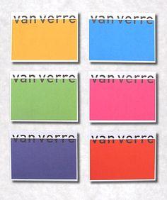 Visitekaartjes Van Verre Spelen Met PMS Kleuren De Voorzijde Bestaat Uit Zwart Aangevuld 8 Verschillende Weerzijde Indrukzijde