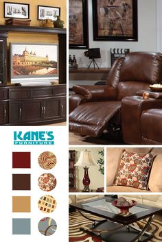 Transform your living room into a home theater fit for the whole family thanks to oversized leather recliners and entertainment centers with enough storage for all your movies and games.