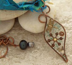Copper wire frame resin with dragonfly by DragonflyDreamers, $42.00