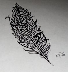 feather design would be a bad ass tattoo