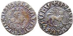 World Coins - CILICIAN ARMENIA AR TRAM LEVON II 2.8 GR & 21,24 MM