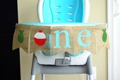 Fishing Themed HighChair Banner- Birthday- Fishing Party Decor- Fishing Highchair Birthday Banner - High chair Banner- One Banner by OliviasSweetLullaby on Etsy 1st Birthday Boy Themes, 1st Birthday Banners, Baby Boy Birthday, Boy Birthday Parties, Birthday Ideas, Birthday Chair, Motto, Party Chairs, High Chair Banner