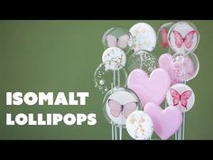 Isomalt Lollipops - YouTube Lollipop Recipe, Lollipop Cake, Cupcake Cakes, Cupcakes, Isomalt, Zoes Fancy Cakes, Lolly Cake, Cake Hacks, Cake Templates