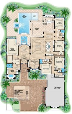 If ever get a luxury home, this floor plan would be the layout of my dream home. Plan#175-1086.