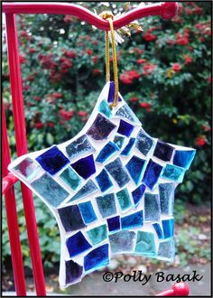Blue Stained Glass Mosaic Star