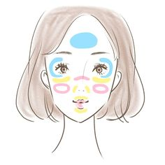 イエローは色ムラが気になる部分、ピンクは青クマをカバーしたり血色感を出したい部分、ブルーは透明感を出したい部分に使ってみてください。Twitterには「ミックスカラーチーク」を絶賛するコメントが多数投稿されています。