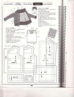Выкройки из японских журналов. Часть 23 - для куклы Блайз. Часть 3 из 5 / Куклы Блайз, Blythe dolls / Бэйбики. Куклы фото. Одежда для кукол