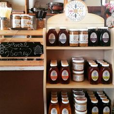 We now have local honey from Bedillion Honey Farms of Hickory, PA in different varieties - clover, wildflower, orange blossom, buckwheat, basswood, and Japanese knotweed. Also available are bee pollen and creamed wildflower honey that we use for our Honey Bunnies and Sweet Dreams. . #honey #bee #creamedhoney #localbusiness #localhoney #Foxburg #Pennsylvania #biketrail #allegheny Chocolate Caramels, Chocolate Gifts, Creamed Honey, Local Honey, Bee Pollen, Belgian Chocolate, Chocolate Covered Strawberries, Buckwheat, Orange Blossom