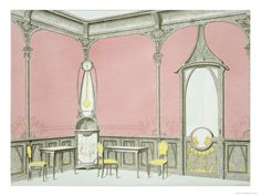 Interior Design For a Brasserie, Illustration from Menuiserie D'Art Nouveau, Published c.1900 Giclee Print by F. Barabas at AllPosters.com