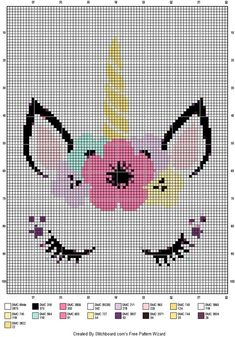Discover recipes, home ideas, style inspiration and other ideas to try. Cross Stitch For Kids, Cross Stitch Cards, Simple Cross Stitch, Cross Stitch Baby, Cross Stitching, Cross Stitch Embroidery, Cross Stich Patterns Free, Unicorn Cross Stitch Pattern, Unicorn Pattern