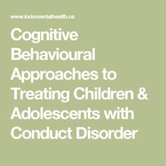 Cognitive Behavioural Approaches to Treating Children & Adolescents with Conduct Disorder Kids Therapy, Family Therapy, Therapy Tools, Therapy Activities, Art Therapy, Elementary School Counseling, School Social Work, Defiance Disorder, Oppositional Defiance