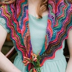 Crochet Pattern Ripple Shawl : 1000+ images about Ponchos on Pinterest Ponchos, Crochet ...
