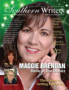 Southern Writers Nov/Dec cover with Maggie Brendan