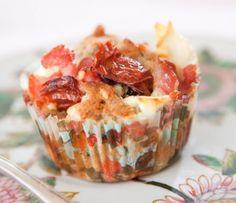 Matiga muffins till vardag och fest.Muffins med bacon och chèvre