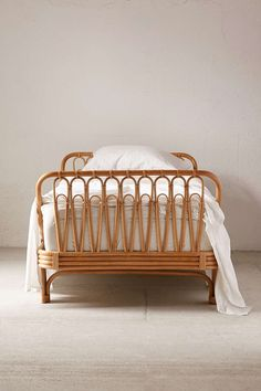 Canoga Rattan Bed - Urban Outfitters (turned sideways for a really pretty daybed/couch) Cane Furniture, Bamboo Furniture, Furniture Design, Luxury Furniture, Furniture Ideas, Rattan Bed Frame, Rattan Daybed, Bamboo Bed Frame, Bed Frame Design