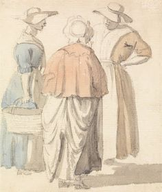c. 1760s The Gossips by Samuel Scott at the Yale Center for British Art