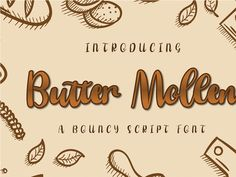 Butter Mollen is a cute and casual handwritten font with an incredibly friendly feel. Whether you're looking for fonts for Instagram or calligraphy scripts for DIY projects, this font will turn any creative idea into a true piece of art! Cool Fonts, New Fonts, Icon Font, Scripts, Gin, Art Pieces, Butter, Typography