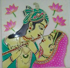 47 Best ideas for baby art projects stained glass Glass Painting Patterns, Glass Painting Designs, Stained Glass Patterns, Paint Designs, Fabric Painting, Tanjore Painting, Krishna Painting, Krishna Art, Aluminum Foil Crafts