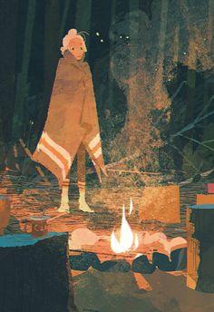 """""""Enjoying Fire """" 8.5x11"""" digital print / illustratus"""