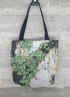 "Birchbark Tote: A new addition to my VIDA collection of ""wearable art""!  See them all at http://shopvida.com/collections/voices/andrea-placer"