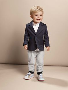 ae3b07585dd BOSS's elegant suit jacket, white shirt, jogg pants and shoes for babies -  babies' fashion - mode layette