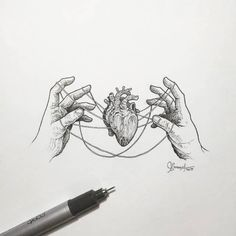 Creative artist Kerby Rosanes, an illustrator based in Manila, Philippines. Kerby Rosanes uses ink primarily in their drawings. For more drawings →View Website Tumblr Art Drawings, Art Drawings Sketches, Tattoo Sketches, Heart Drawings, Kunst Inspo, Art Inspo, Stylo Art, Heart Art, Amazing Art