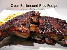 Oven Barbecued Ribs Recipe!  Perfect All Year!!  Fall off the bone tender!