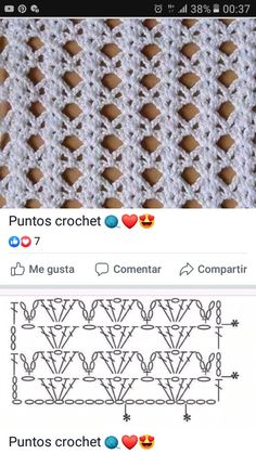 Crochet Square Patterns, Crochet Diagram, Crochet Stitches Patterns, Crochet Chart, Diy Crochet, Crochet Designs, Knitting Patterns, Gilet Crochet, Crochet Mobile