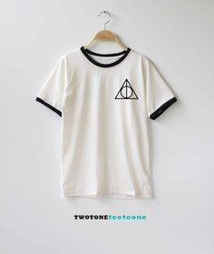 Deathly Hallows Harry Potter Shirt TShirt T-Shirt T Shirt Tee