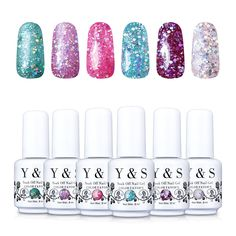 Yaoshun Gelpolish, Soak-off (Gel Nail Polish) UV LED Nail Art/Beauty Care 8ml 6pcs--050 *** Visit the image link more details.