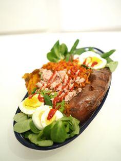 süßkartoffel kumpir baked sweet potato filled stuffed vegetarian recipe kumpir rezept foodblog  Sweet Potato Kumpir Recipe