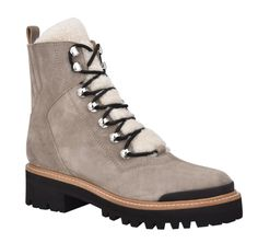 STYLECASTER | Marc Fisher Izzie Winter Boot | Marc Fisher boot | Marc Fisher winter boot | Marc Fisher Isalia boot | cute hiking boots | cute lace-up boots | cute winter boots Lace Up Boots, Knee Boots, Combat Boots, Moon Boots, Christian Louboutin So Kate, Tom Ford Sunglasses, Faux Leather Leggings, Timberland Boots, Fisher