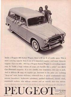 1960 Peugeot 403 Station Wagon Ad