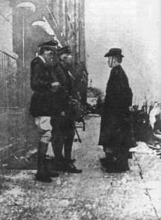 April 28th 1916, Patrick Pearse surrenders to British Troops outside the GPO in Dublin. Public opinion was against them and they were booed and heckled as they were led away. This was to change some 2 weeks later when the first if the leaders of the Easter Rising were executed.