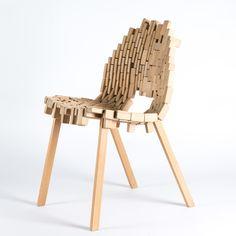 frederik kurzweg design studio, brick chair,  wood, prototype, furniture design
