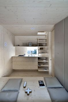 Living Unit On Ljubljana Castle | OFIS Arhitekti #tiny #house #timber