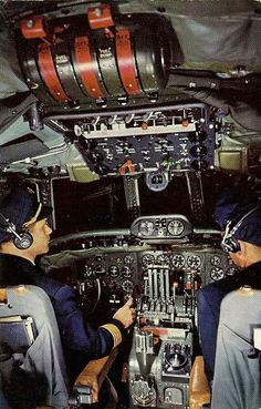 Lockheed Super Constellation L-1049 Cockpit