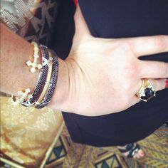 @marchienyc rocks black and gold at Luxury Prive in NYC #bling #judefrances #blackandgold