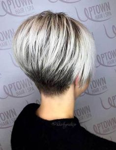 Best Short Wedge Haircuts for Chic Women. Nowadays, super stylish women don't just opt for bob or pixie cuts. The wedge hairstyles give women a retro look. Find the best advice as well as hot picture of the Best Short Wedge Haircuts for Chic Women. Short Wedge Hairstyles, Short Wedge Haircut, Short Bob Haircuts, Cute Hairstyles For Short Hair, Short Stacked Haircuts, Hairstyles 2016, Pixie Hairstyles, Stacked Bob Short, Womens Bob Hairstyles