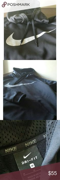 NWOT NIKE DRI-FIT BLACK THERMA TRAINING HOODIE Looking to stay warm while you train? Do so with the Men's Nike Therma Training Hoodie.  NEW Black Dri-Fit  Thermal  hoodie size medium with gray Nike logo on the front only. Nike Other