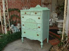 CUSTOM DRESSER Tall Highboy Chest Of Drawers Order Your Own Shabby Chic Painted Distressed Restored Antique Bedroom Furniture ~ Medium Width...