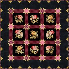 Dover  Gardens (Lakehouse Fabrics)  This charming quilt was designed by Brenda Riddle.