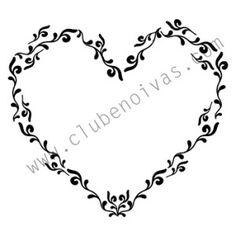 Moldura de Coração inspirado no monograma da Fernanda Souza  #monograma #casamento