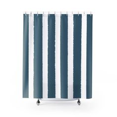 teal striped shower curtain. Teal Shower Curtain  Striped Modern White And Black