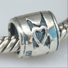 Love Hearts 925 Sterling Silver Beads Symbols