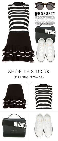 """Black & White 3815"" by boxthoughts ❤ liked on Polyvore featuring Jonathan Simkhai, Givenchy, Valentino and Illesteva"